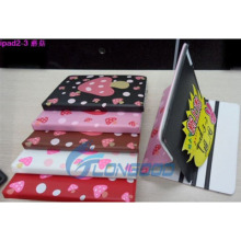 Hot Cute PU leather case for iPad Air,smart cover case for ipad