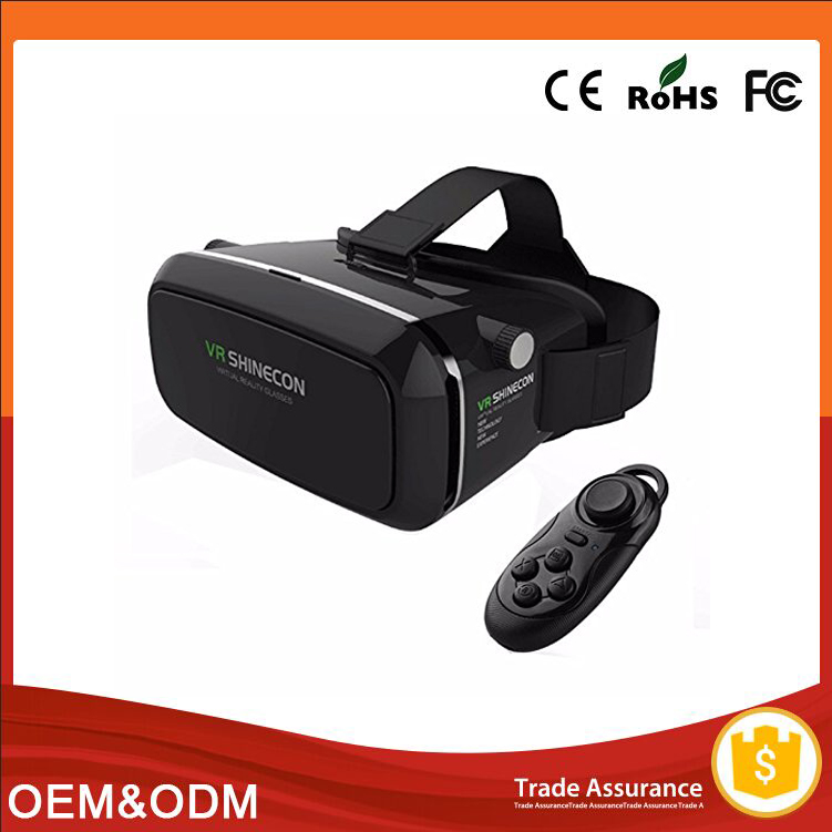 2016 google sex pron video xxx 3d glasses box vr headset vr shinecon for pc games/movies/xbox on
