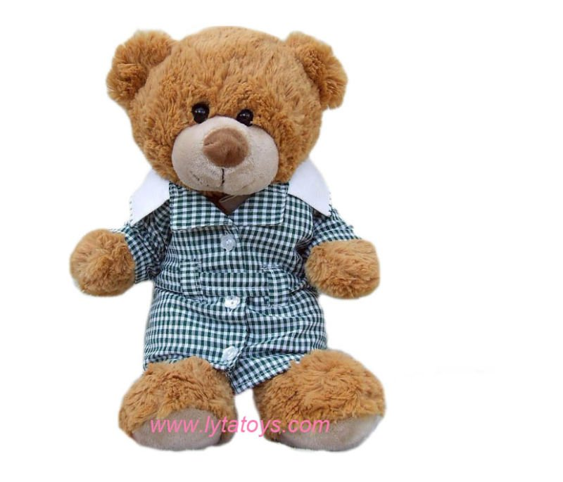 Plush Giant Toy Teddy Bear Wearing Blue Clothes Meets ISO9001
