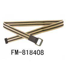 FM brand polyester cotton italian man nylon black military tactical custom printed web canvas belt d ring web belt