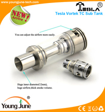 Best setting Youngjune Tesal Vortek 12ML sub tank tiny 65*30mm with Cyclops Style bottom airflow