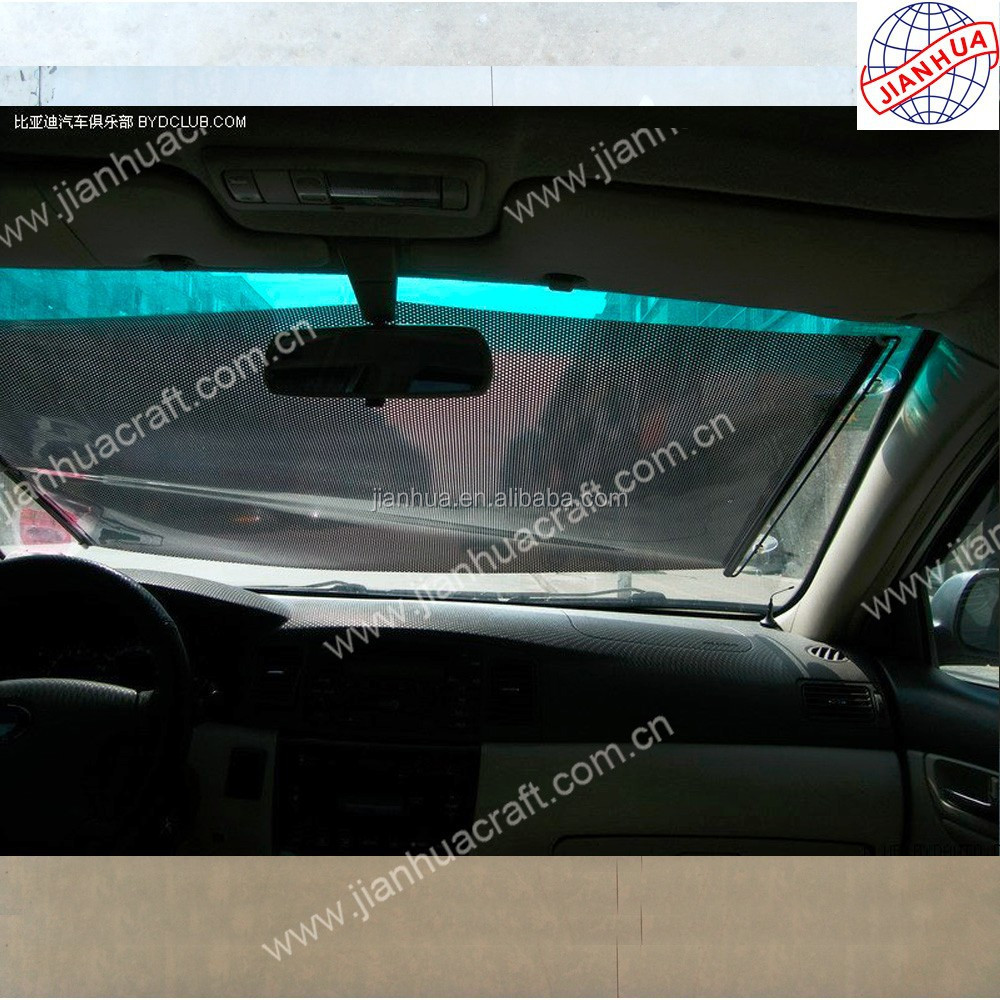 Car sunshade curtain with pvc retractable roller blinds ,sun shade with 58x125cm