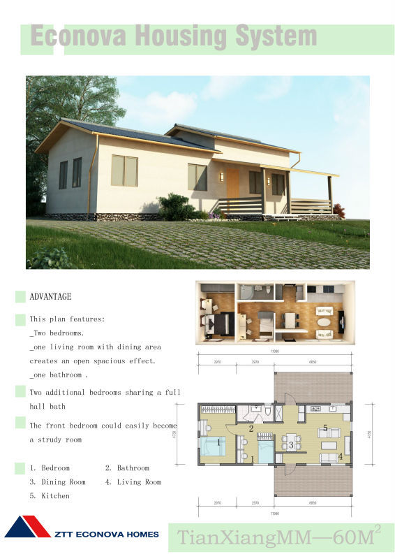 fire-proof steel structures residential prefabricated house made in China