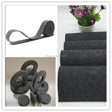 F3 high-grade insurtial wool felt grey pressed wool felt