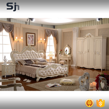 Luxurious white king bedroom furniture sets for adults for F913