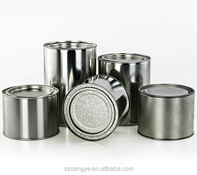 100ml-1gallon silver empty top selling metal tin can