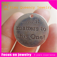 Logo Engraved Jewelry Tags Charms Custom