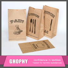 Customed Paper lunch bags brown kraft paper bags for food