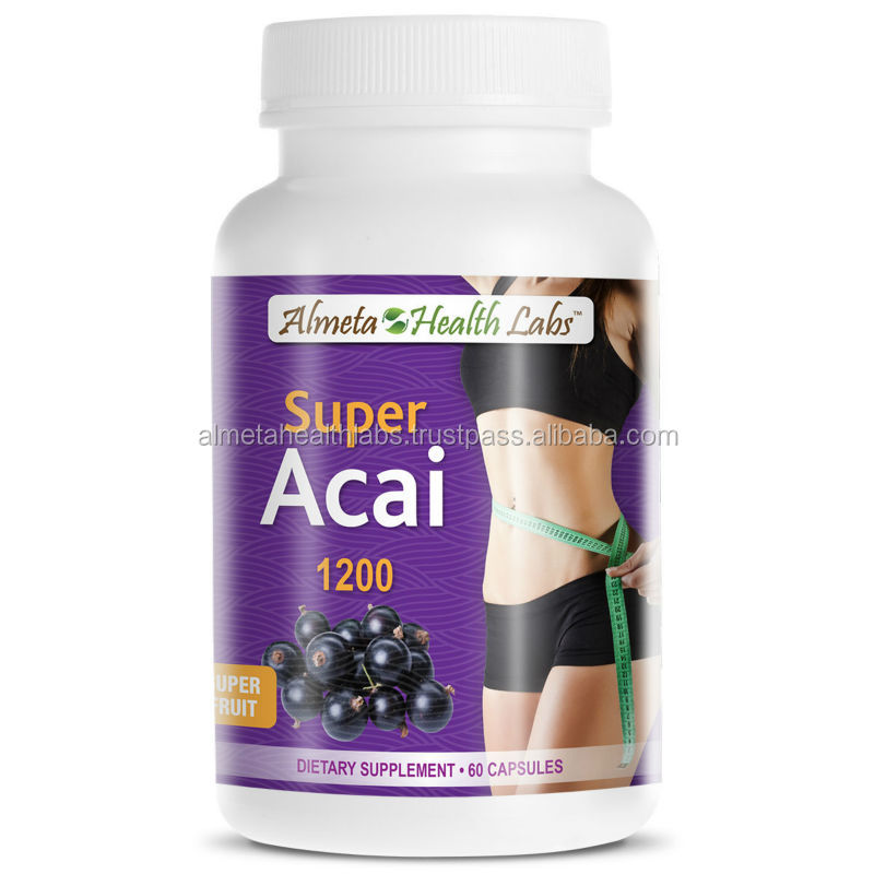Made in USA 1500mg Acai Berry Capsules