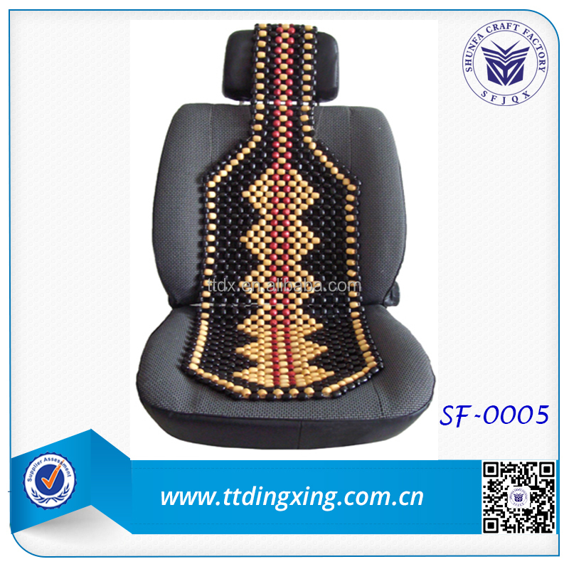 new design car accessories Colorful Wooden beads car seat cushion from China