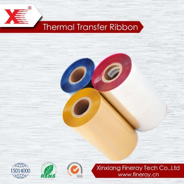 xinxiang 2017 red black yellow copper color White Wax Resin TTR Thermal Transfer wax/resin Ribbon