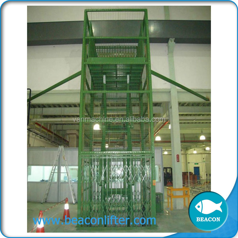 good vertical hydraulic cargo lift hydraulic guide rails lift china
