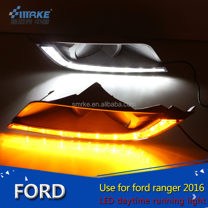 2016 ranger accessories auto part led daytime running light For ranger 2016 DRL fog lamp