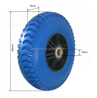 High quality manufacturer to supply 350-5 blue PU foam wheel, wheelBarrows wheel