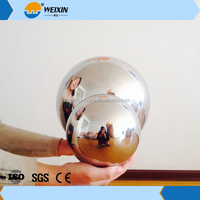 Large stainless steel hollow float ball for threaded