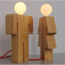 china supplier new product people body shape wooden table lamp