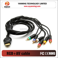 Component RGB AV Cable 5RCA cable for PS2 PS3 game