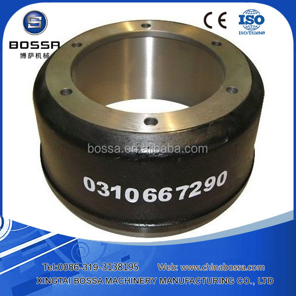 safety quietness and durable brake drums used for heavy trucks