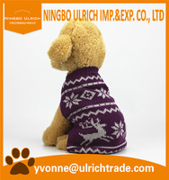M103 hot sale 100% acrylic knitted pet clothes dog