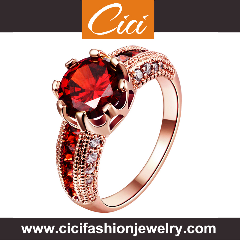 Wholesale Jewellry Ruby Ring Sterling Silver Rings