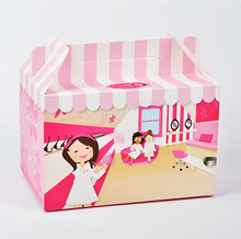 Cardboard Die cut handle fashional gift box