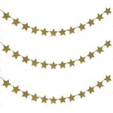 Hanging star paper garlands party banner for room decoration