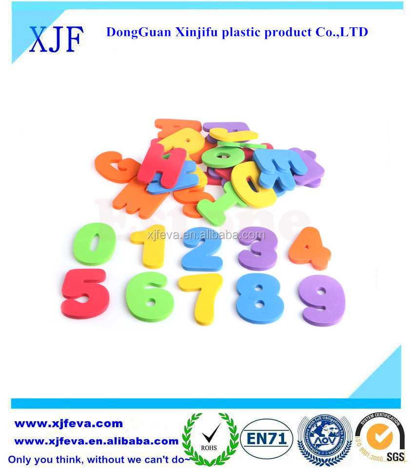 36pcs colorful Eva foam bath toy (letter and number )for child