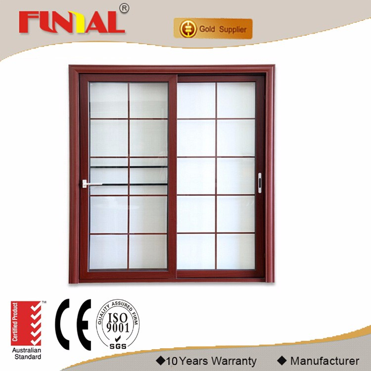 Powder coated aluminum frame low-e glass sliding door