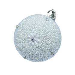 Wholesale Ball Shape Crystal Pearl Clutch Bag