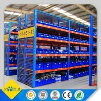 Plastic storage bins and shelf for warehouse