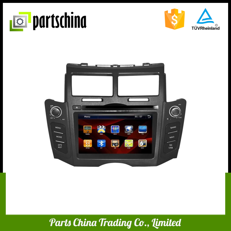 Car player gps navigation sd card with dvd radio for Toyota Yaris