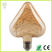 String Light 1.5w Copper Wire Heart Shape Led Bulb