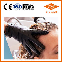 Black Disposable Nitrile Gloves for Hair Dye Nail Salon