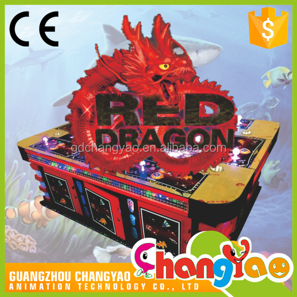 Hot Sale Entertainment Video Fishing Game Red Dragon Machine Consoles