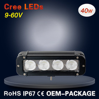 Wholesale 9-60V 8 inch 40w led light bar for car atv with free logo 5'' 8'' 11'' 17'' 21'' 30'' 36'' 40''