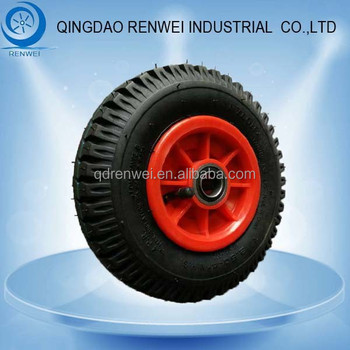 8 inch Rubber Tire for Wagons with Plastic Rim 2.50-4 Rubber Wheel with Pneumatic Tyre