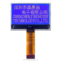 128X64 dot matrix graphic lcd display with different color of backlight JHD12864-G183BSW-B