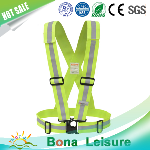 GE&SGS quality satandard 3m lime safety vest high quality visibility reflective safety vest