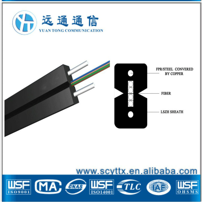 FTTH indoor bow-type fiber optic cable for light
