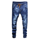 OEM jeans Casual Drawstring elastic waist and Jogger Jeans for men