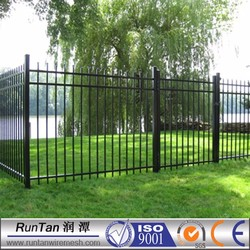 black powder coated or bitumen coated decorative steel fence