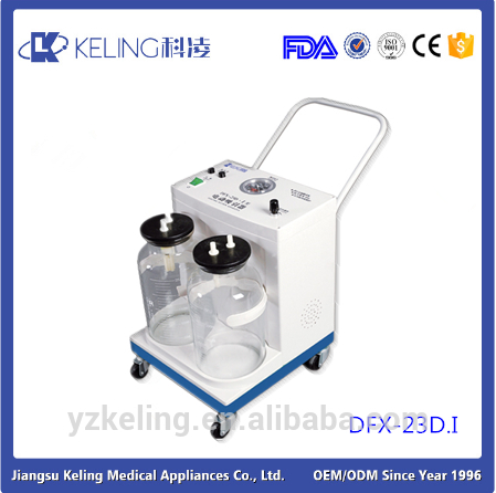 New brand 2017 medical suction device with casters for hospital