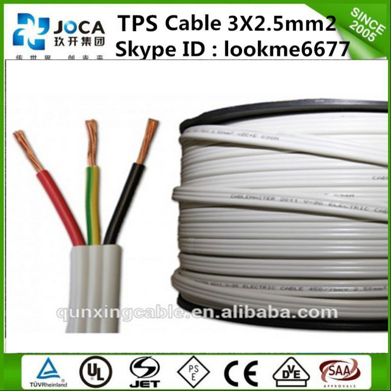 SAA approval australia wires and cables TPS flat cable manufacturer prices copper PVC Flat TPS cable