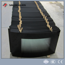 Fireplace heat glass/ tempered glass electric fireplace glass