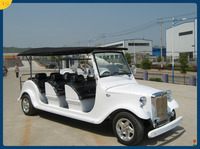 Restaurant hotel electric powered passanger cars 8 person golf cart, classic cars for sale (M6)