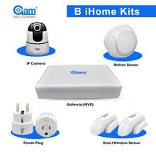 Wireless Video Recording Smart Home Monitor Smarthome wifi alarm system Kit with 8CH NVR Gateway