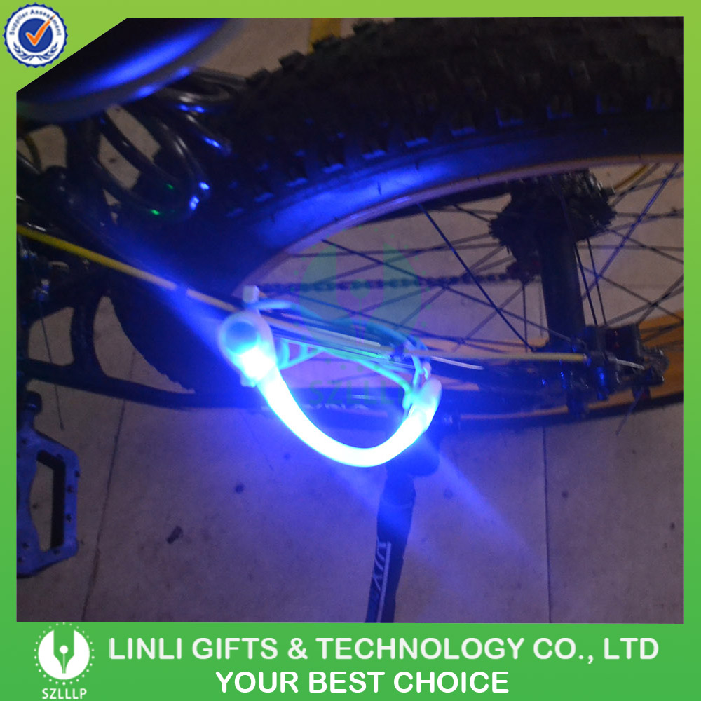 2016 Most Latest Safety Led Flashing Bike Light,LOGO Printing LED Bag, Bike Clip Light
