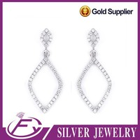 China manufacture cz stone sterling silver bulk wholesale earrings