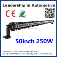 NSSC 50inch 250w black finish brightness led strip bar light made in china