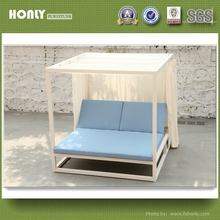 Adjustable backrest patio double bed luxury canopy bed